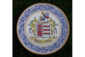 Plato de 35cm greca y escudo