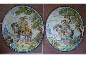 Ovalo de 50cm decorado con motivo  Montería